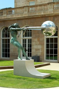 The Force of Nature is a series of sculptures by artist Lorenzo Quinn that depict a woman pivoting the world around with a piece of cloth.