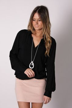cute work outfit - add a knee length pencil skirt too