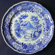 Villeroy & Boch Burgenland Blue (Green Blue, Black Backstamp) at Replacements, Ltd - Page 1 Blue Brown, Blue And White, Villeroy, White Aesthetic, Bosch, Decorative Plates, Crystals, Tableware, Green
