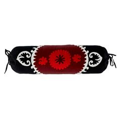 Black & Red Suzani Pillow - my inspiration piece.  From Wisteria $129.00