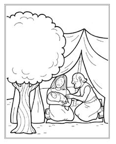 : Para colorear - La historia de Abraham