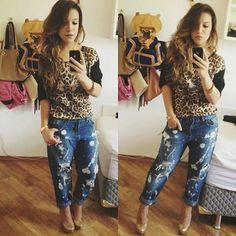 looks priscilla alcantara calça jeans - Pesquisa Google