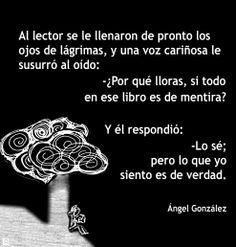 Precioso poema de Ángel Gonzalez sobre la lectura!