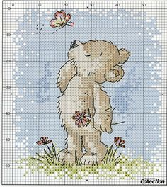 Cross-stitch Teddy... no color chart available, just use the pattern chart as your color guide...   Gallery.ru / Фото #25 - Cross Stitch Collection 206 февраль 2012 - tymannost