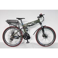 2014 Off Road LandR Electric Bike 48V 750W 8Fun Bafang Mid Drive Foldable Frame 9 speed 48V 20Ah Rear Carrier Battery