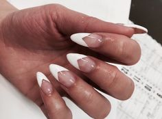 Almond Deep V French - Nail Art Gallery