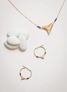 Shark Necklace & Earrings