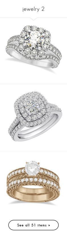 """""""jewelry 2"""" by luluuluxx ❤ liked on Polyvore featuring jewelry, rings, accessories, wedding, white gold, square engagement rings, round wedding rings, yellow gold rings, gold ring and wedding band rings"""