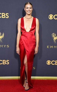 Yvonne Strahovski from 2017 Emmys Red Carpet Arrivals