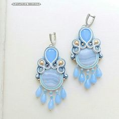 Soutache Jewelry, Beaded Earrings, Earrings Handmade, Handmade Jewelry, Jewelery, Jewelry Necklaces, Shibori, Jewelry Collection, Belly Button Rings