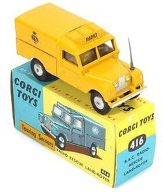 Corgi Toys 416 Rare Touring Secours export variation