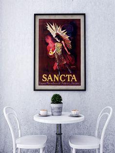 Vintage Poster Print - Antique French Poster - 20th Century European Advertisement Art-Sancta liqueur merveilleuse de l'abbaye de Faverney