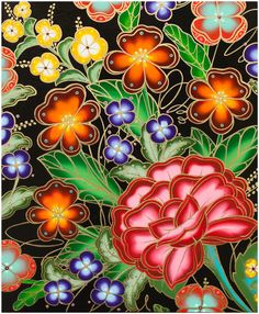 Jet Martinez Remixes Mexican Folk Art in New Floral Works | Hi-Fructose Magazine Contemporary Decorative Art, Mexican Pattern, Mexican Flowers, Naive Art, Illustrations, Mexican Folk Art, Flower Art, Canvas Art, Diy Canvas