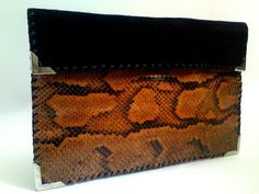 Snake Leather Clutch