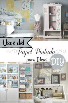 El papel pintado vuelve y podemos usarlo para ideas DIY - Guía de MANUALIDADES