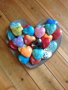 Earth Wool & Fire Ceramic Hearts.