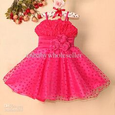 Wholesale 2013 Children Girls Party Ball Dress Hot Pink Kids Tutu Beautiful 3 Rose Flower Baby pageant dresses, Free shipping, $10.71-13.09/Piece | DHgate#s36-8-null