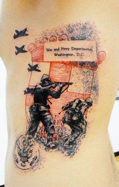Abstract War Tattoo by Xoil Tattoo - http://worldtattoosgallery.com/abstract-war-tattoo-by-xoil-tattoo/