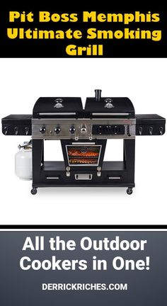 The Pit Boss Memphis Ultimate Smoking Grill promises everything with both gas and charcoal grills plus an electric smoker. Camping Grill, I Grill, Smoke Grill, Cooking On The Grill, Gas And Charcoal Grill, Charcoal Smoker, Best Kamado Grill, Best Electric Grill, Clean Grill Grates