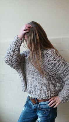 VEGAN Friendly 100 acrylic chunky comfy sweater by ileaiye on Etsy,