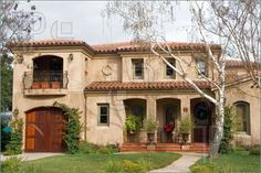 mediterranean home exteriors | Front Of Mediterranean Home Photo. High Resolution Photograph at ...