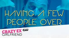 """""""Having A Few People Over"""" full music video from Pete Gardner. Crazy Ex-Girlfriend is new Monday at on The CW. Crazy Ex Girlfriends, The Cw, Just Dance, Current Events, Pop Culture, Music Videos, Scene, In This Moment, Songs"""