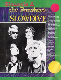 """Siouxsie  the Banshees """"Slowdive"""" song lyrics straight from Smash Hits 1982!"""