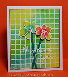 Playing with the Artful Flowers by Simon Says Stamp!