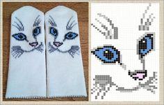 Knitted Mittens Pattern, Knit Mittens, Knitting Designs, Knitting Patterns, Gypsy Crochet, C2c, Dolls, Gloves, Socks