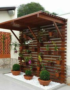 62 ideas backyard pergola garden for 2020 Diy Pergola, Backyard Pergola, Backyard Landscaping, Pergola Screens, Pergola Kits, Pergola Ideas, Patio Ideas, Small Balcony Garden, Vertical Garden Diy