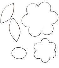 moldes para flores de goma eva para dibujar - Buscar con Google