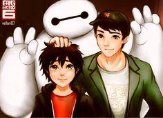 "Never Forget You by AviHistten.deviantart.com on @DeviantArt - Baymax, Hiro, and Tadashi from ""Big Hero 6"""