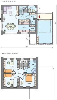 Ytong irena 107 m2 lower floor only 77 53 m2 la for Extension maison ytong
