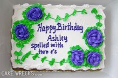 Happy Birthday Ashley Cake Wreck