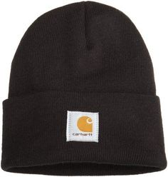 Carhartt Men's Acrylic Watch Hat,Black,One Size: Carhartt's acrylic watch hat is made of stretchable, acrylic rib-knit fabric for warmth and comfort. The carhartt logo is sewn on the front of this classic, one one-size-fits-all hat. Vans Old Skool Noir, Shopping Pas Cher, Knitted Fabric, Knitted Hats, Unisex, Heather Grey, Warm Winter Hats, Fall Accessories, Knitting