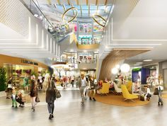 Extensive renovation and redecoration of the existing and fully operational shopping centre complements the extension already commenced in 2016  HAMBURG,