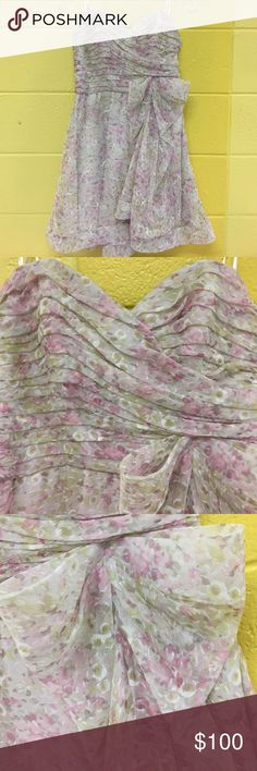 ABS by Allen Schwartz Strapless Bow Dress *NEW LOWER PRICE* ONLY WORN ONCE FOR ENGAGEMENT PICTURES!!! Size 6 strapless formal ABS dress is perfect for any occasion. Very flattering with bow accent! PERFECT condition! ABS Allen Schwartz Dresses Strapless