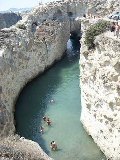 Milos Swimming Hole, Cyclades, Greece