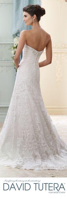 The David Tutera for Mon Cheri Fall 2015 Wedding Gown Collection - Style No. 215271 Delia  davidtuteraformonformoncheri.com #weddingdresses #weddinggowns