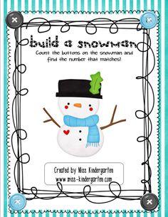 Build a Snowman product from MissKindergarten on TeachersNotebook.com