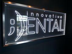 Innovative Dental interior edge-lit sign