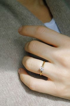 Vintage Tiffany & Co. Engagement Ring Set with 0.56ct ...  #056ct #amp #engagement #ring #Set #tiffany #vintage