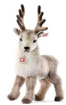 A little child would love Renny the Reindeer!  -  Steiff, plush toy, figure -- (Christmas, deer, decor, child)