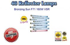 Tanning Bed Lamps Bulbs Wolff Bronzing Sun Plus160 Watt F71 Qty 48 Free Shipping #BronzingSunPlus