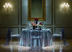 Embellished linens set the ambiance for an extraordinary evening at The Ritz-Carlton, Atlanta.
