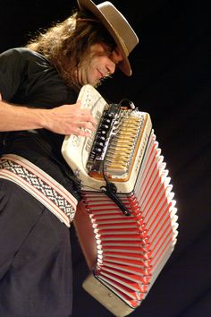 Renato Borghetti is a Brazilian accordianist who plays a folk music known as Musica Gaucha. http://www.youtube.com/watch?v=xfsaGLesNHE