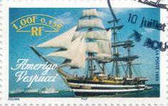 Briefmarke-Europa-Westeuropa-Frankreich-0.15-1999-Amerigo Vespucci