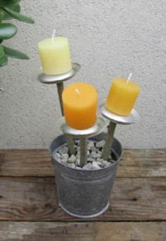 Soda Can Candle Holders