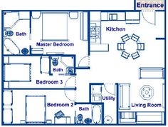 900 square foot house plans | 900 sq ft three bedroom and bathroom