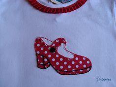 Camiseta zapato de flamenca niña patchwork
